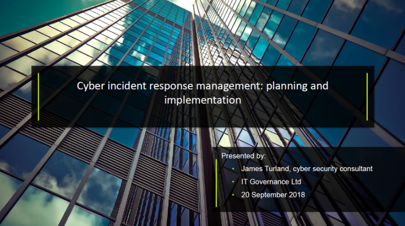 Cyber incident response management: planning and implementation