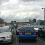 Video: Mass jamming of electric car locks in a British car park