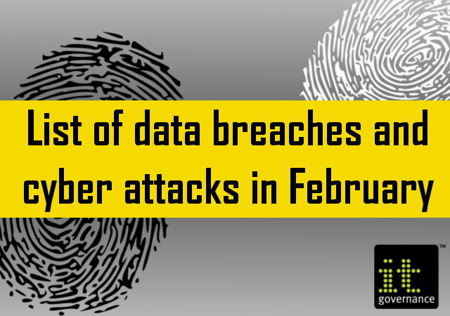 List of data breaches and cyber attacks in February 2019