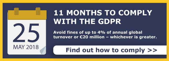 11 months to comply with the GDPR