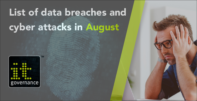 List of data breaches and cyber attacks in August 2017 - IT