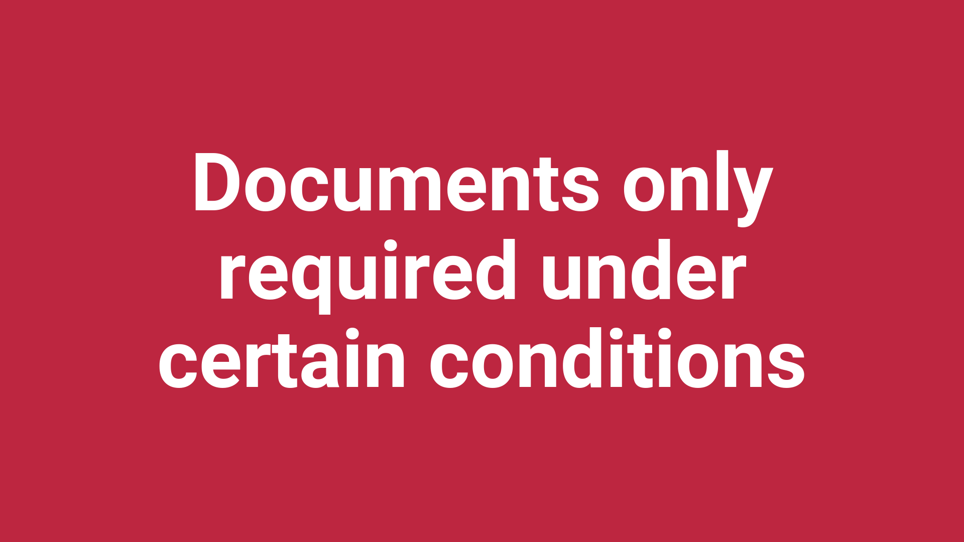 GDPR documentation only required under certain conditions