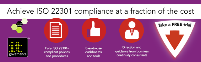 How to write an iso 22301 compliant business continuity policy it take a free trial to see how the iso 22301 bcms documentation toolkit can help you with your iso 22301 project cheaphphosting Image collections