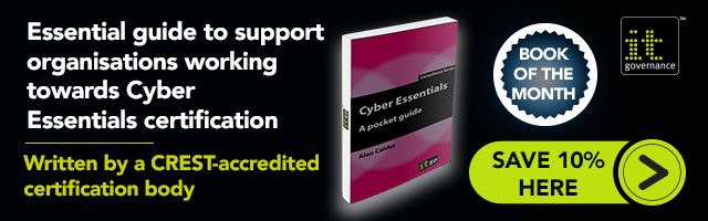 Essential guide to support organisations working towards Cyber Essentials certification. Save 10% on Cyber Essentials - A Pocket Guide today >>