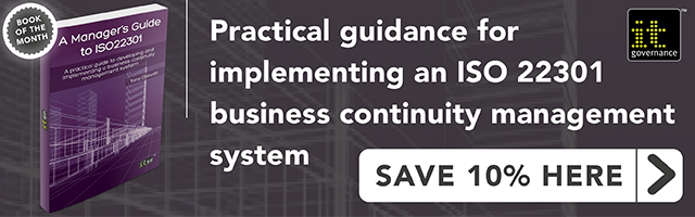 Practical guidance for implementing an ISO 22301 business continuity management system