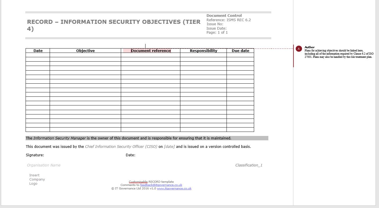 iso 27001 templates free download - risk treatment plan template iso 27001 choice image