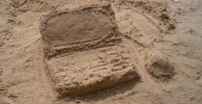 #BreachReady Sand Laptop