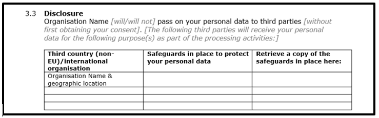 Privacy Notice Template Personal Data