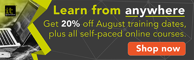 Get 20% off August training dates, plus all self-paced online courses