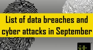 Data breaches September