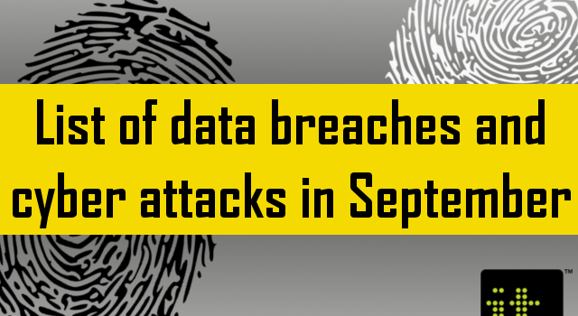 Data breaches September