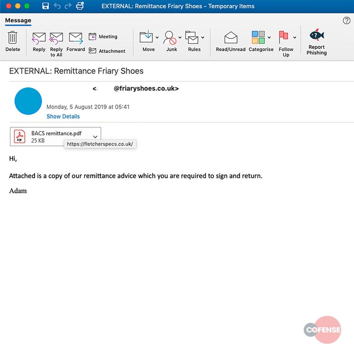 friary phishing email