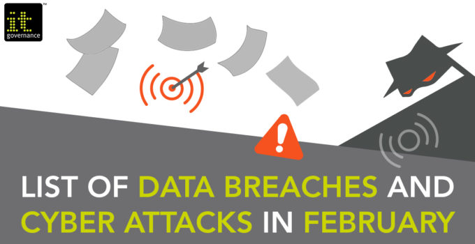 Monthly data breach blog cover - February