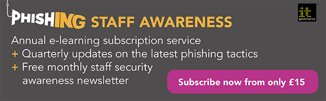Phishing staff awareness e-learning
