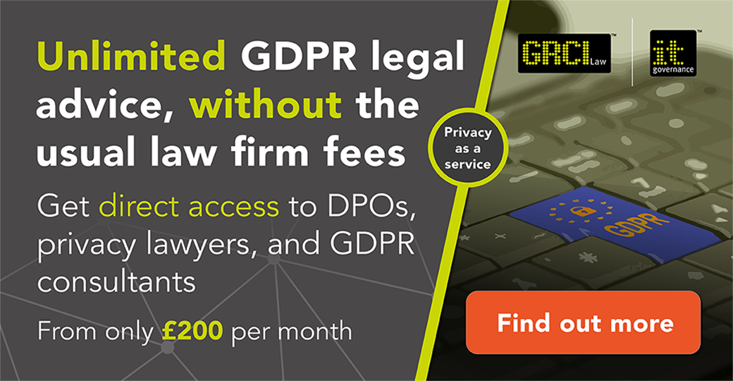 Unlimited GDPR legal advice, without the usual law firm fees -- find out more
