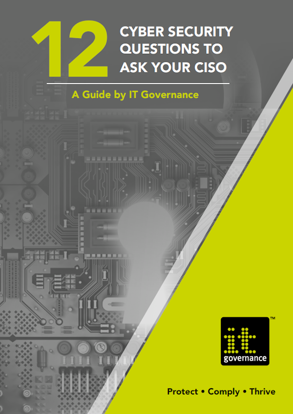 Free Brochure: 12 cyber security questions to ask your CISO