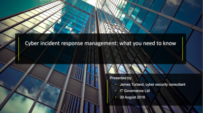 Cyber incident response management: what you need to know