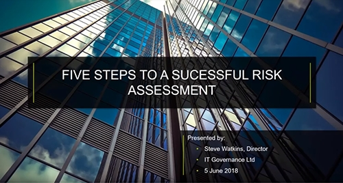 Five steps to a successful ISO 27001 risk assessment