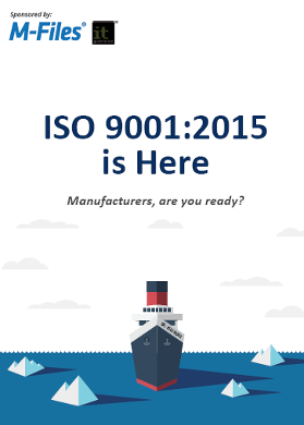 Free PDF download: Manufacturers! Are you ready for ISO 9001:2015?