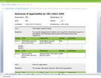 Statement of Applicability - Click to zoom >>