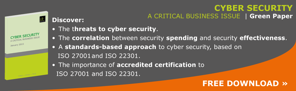 Cyber security green paper - a critical business issue