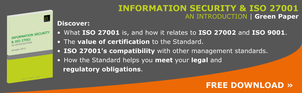 iso27001 green paper