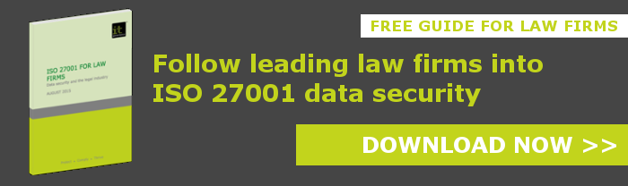 Follow leading law firms into ISO 27001 data security