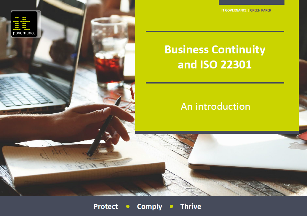 Business Continuity and ISO 22301 – An introduction