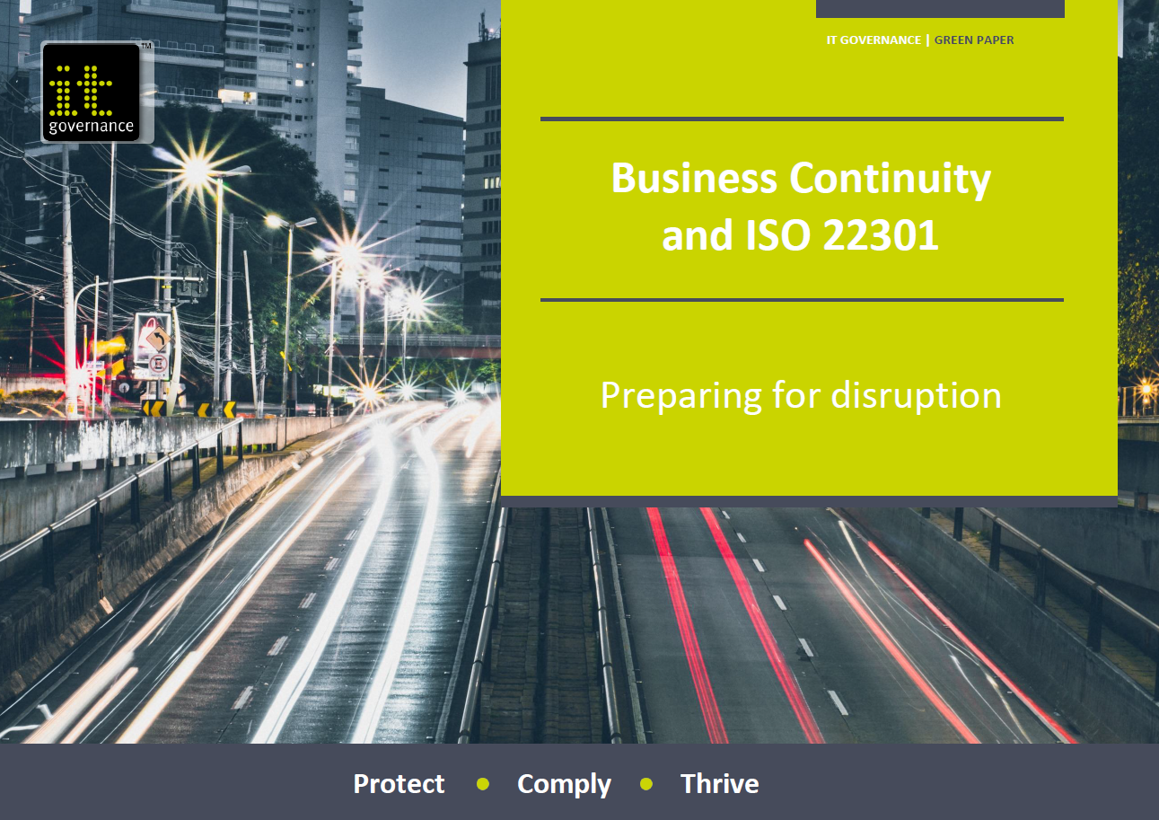 Free green paper: Business Continuity and ISO 22301