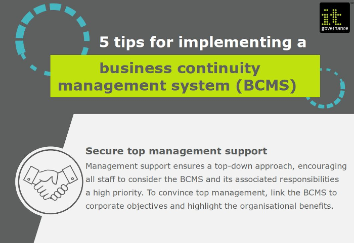 5 tips for implementing a BCMS