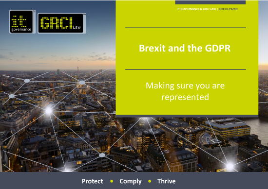 Brexit and the GDPR - Making sure you are represented