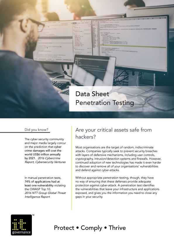 Data Sheet – Penetration Testing