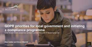 Free GDPR webinar download: GDPR priorities for local government