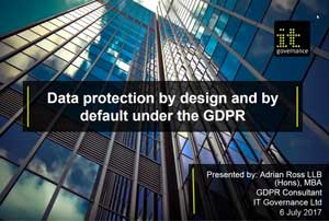 Free GDPR webinar download: Data protection by design and by default