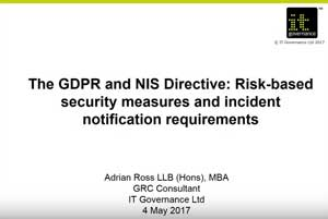 Free GDPR webinar download: The GDPR and NIS Directive