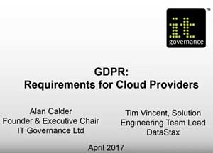 Free GDPR webinar download: GDPR compliance requirements for Cloud-based applications