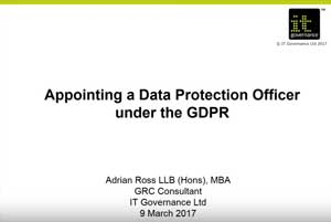 Free GDPR webinar download: Appointing a DPO under the GDPR