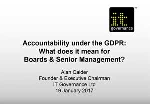 Free GDPR webinar download: Accountability under the GDPR