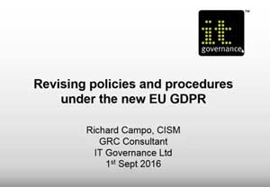 Free GDPR webinar download: Revising policies and procedures under the GDPR