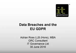 Free GDPR webinar download: Data breaches and the GDPR
