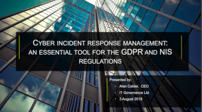 Cyber incident response management: an essential tool for the GDPR and NIS Regulations