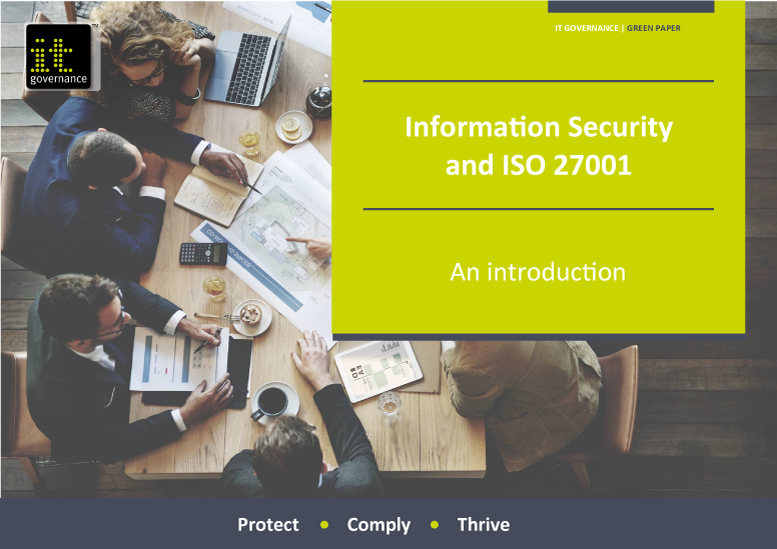 Free pdf download: Information Security & ISO 27001: An introduction