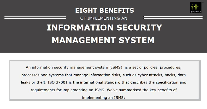 Benefits of an ISMS