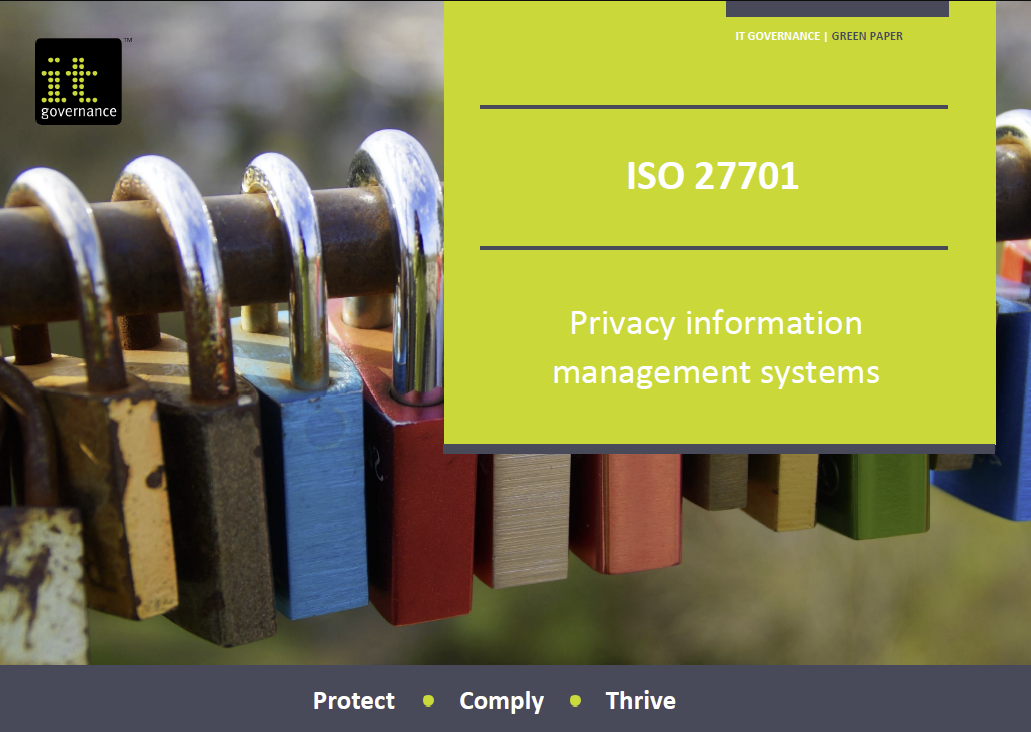 ISO 27701 – Privacy information management systems