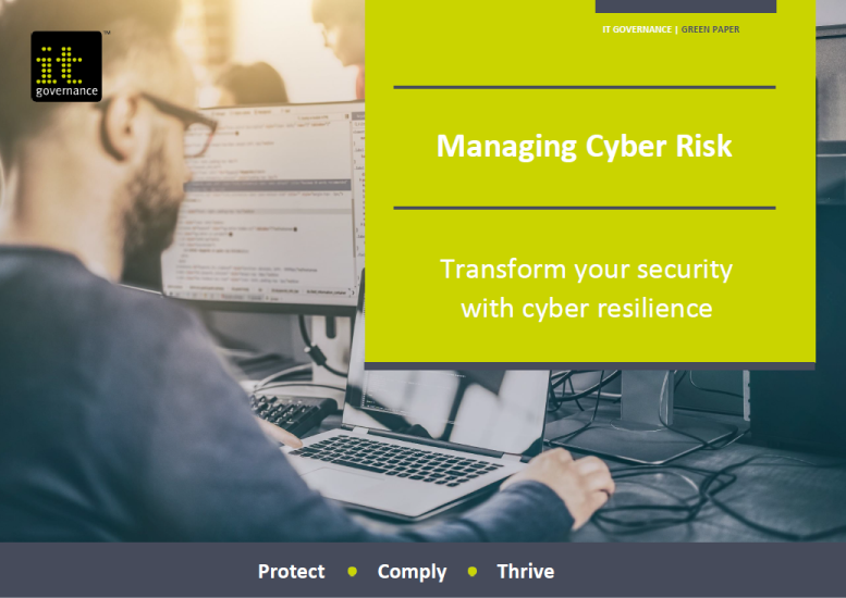 Managing cyber risk  - Transform your security with cyber resilience