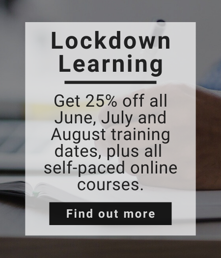 Get 25% of May training dates and self-paced online training courses!