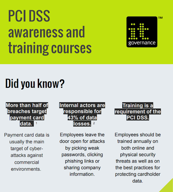 PCI DSS awareness and training courses