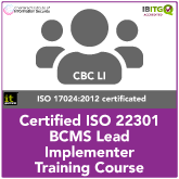 ISO22301 BCMS Lead Implementer Training Course