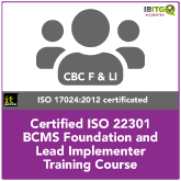 ISO22301 BCMS Foundation and Lead Implementer Combination Training Course