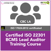 ISO22301 Certified BCMS Lead Auditor Training Course